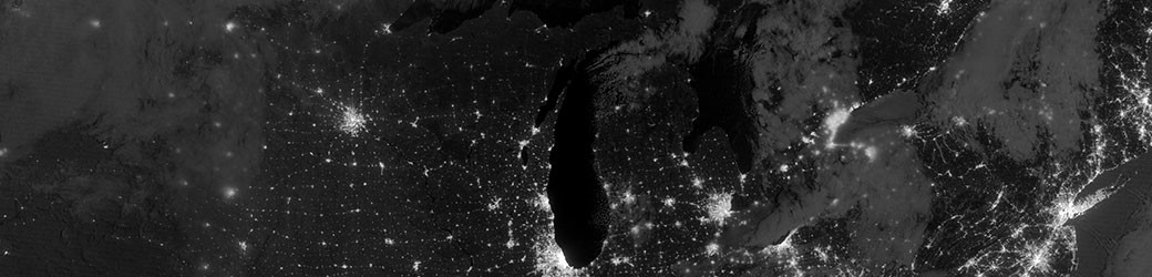 The Great Lakes at Night